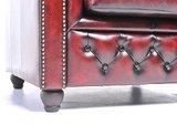 Chesterfield Fauteuil Original Leer   Antiek Rood   12 jaar garantie_
