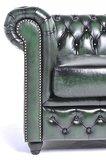 Chesterfield Fauteuil Original Leer | Antiek Groen | 12 jaar garantie_