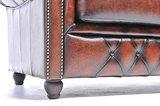Chesterfield Bank Original Leer | 2-zits | Antiek Bruin | 12 jaar garantie_