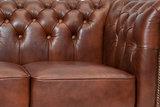 Chesterfield Bank Class Leer   3-zits   Cloudy Oud Bruin   12 jaar garantie_