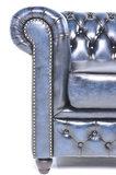 Chesterfield Bank Original Leer   1 + 1 + 3 zits   Antiek Blauw  12 jaar garantie_