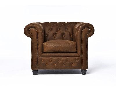 Chesterfield Fauteuil Vintage C0869   12 jaar garantie